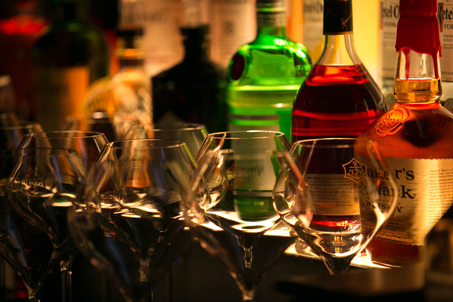 Image of Top Shelf liqour at Sapphire Happy Hour